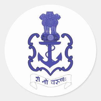 Indian Navy crest, India Classic Round Sticker
