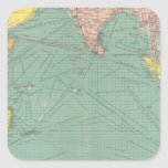 Indian Ocean 3 Square Sticker