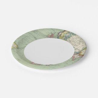 Indian Ocean, Atlantic Ocean Paper Plate