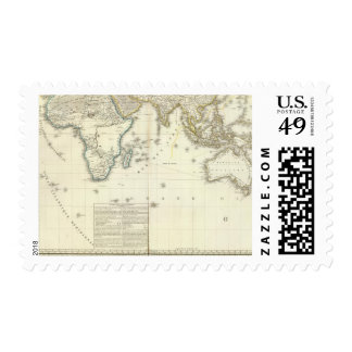 Indian Ocean Atlas Map Stamp