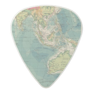 Indian Ocean cables, wireless stations Acetal Guitar Pick
