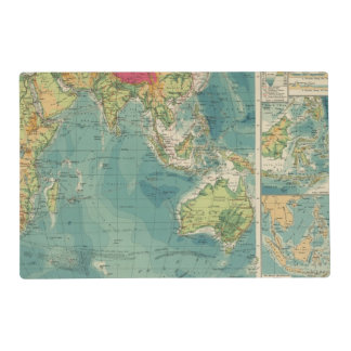 Indian Ocean cables, wireless stations Placemat