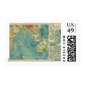 Indian Ocean cables, wireless stations Postage