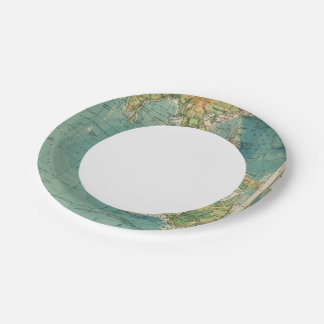 Indian Ocean cables, wireless stations 7 Inch Paper Plate