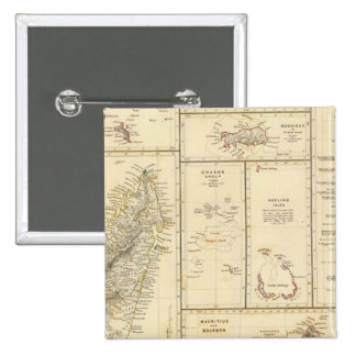 Indian Ocean Islands 2 Inch Square Button
