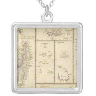 Indian Ocean Islands Square Pendant Necklace