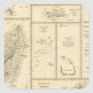 Indian Ocean Islands Square Sticker