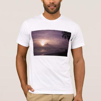 Indian Ocean Sunset Scene Men's T-Shirts