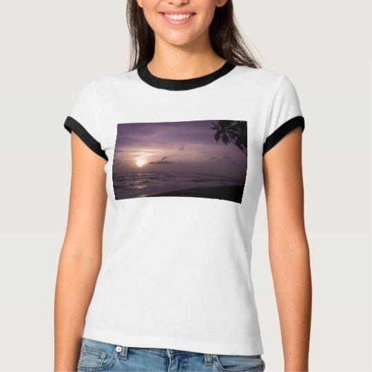 Indian Ocean Sunset Women's Ringer T-Shirts