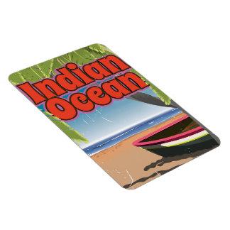 Indian Ocean Vintage travel poster Magnet