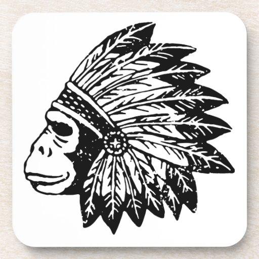 Indian Of Gorilla Beverage Coaster