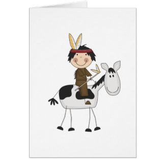 Indian on Horse Tshirts and Gifts Card