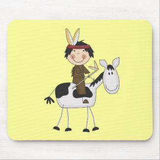 Indian on Horse Tshirts and Gifts Mouse Pad