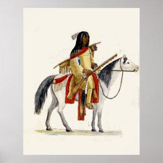 Indian on Horseback Poster