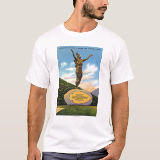 Indian on the Trail Statue at Mohawk Park View T-Shirt