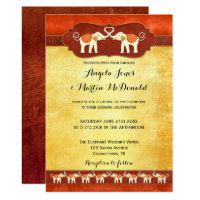 Indian or African White Elephants Wedding Invite