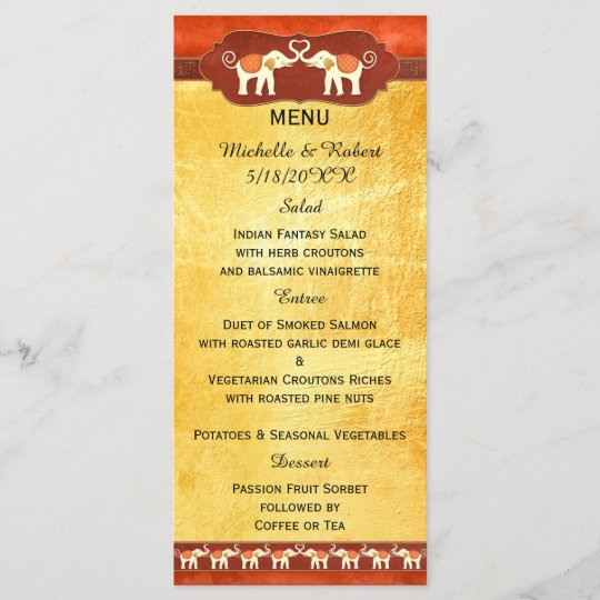 Indian Wedding Reception Food Menu: Elegant Black And White Wedding Dinner Menu Card