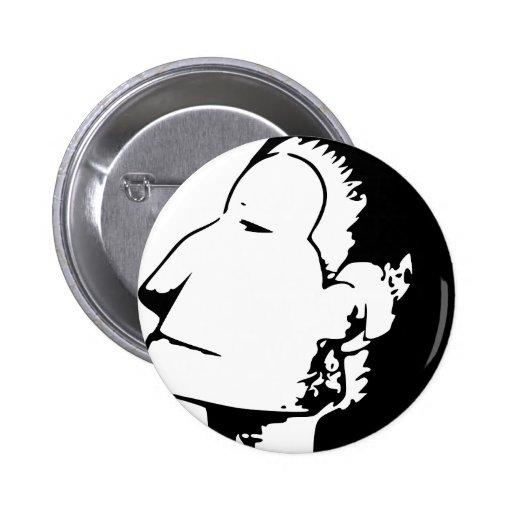 Indian or Eskimo Optical Illusion Pin