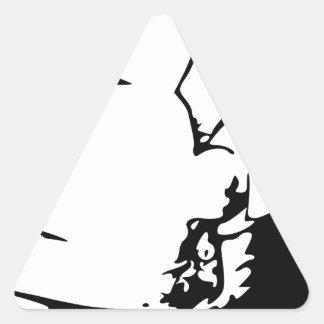 Indian or Eskimo Optical Illusion Triangle Sticker