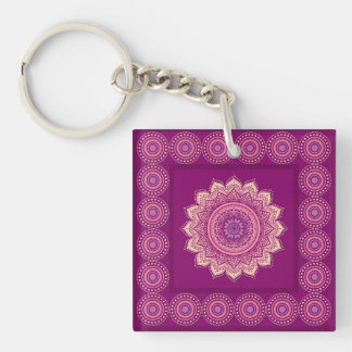 Indian ornament acrylic keychains