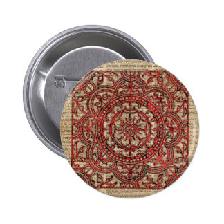 Indian Ornament Mandala Pinback Button