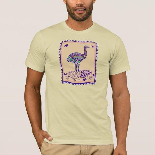 Indian Ostrich Quilt T-Shirt