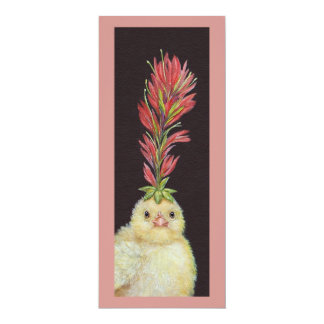 Indian Paintbrush Peep flat card