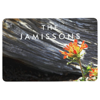 Indian Paintbrush Personalized with Name Floor Mat