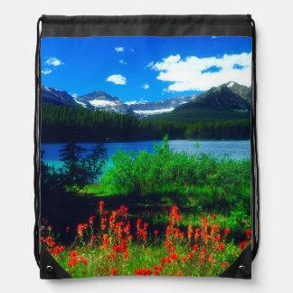 Indian Paintbrush Wildflowers Drawstring Bag