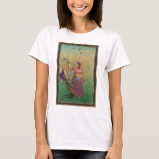 INDIAN PAINTING-LADY IN THE PEACOCK GARDEN T-Shirt