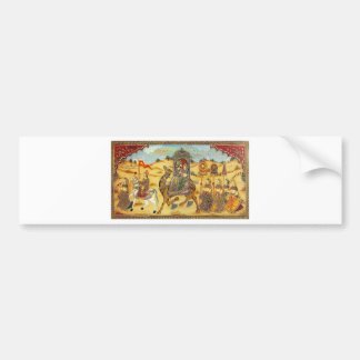 INDIAN PAINTING MARRIAGE PROCESSION CAR BUMPER STICKER