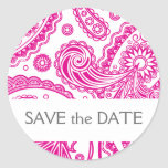 Indian Paisley Save the Date Stickers