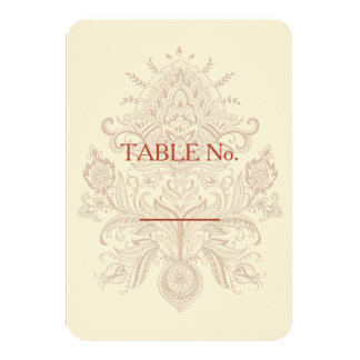 Indian Paisley - Table Number Card