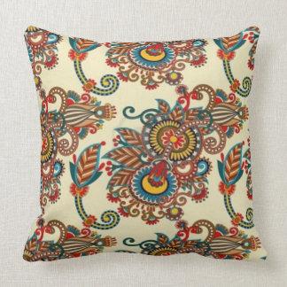 Indian Paisley Throw Pillow