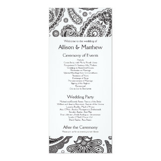 Indian Paisley Wedding Program
