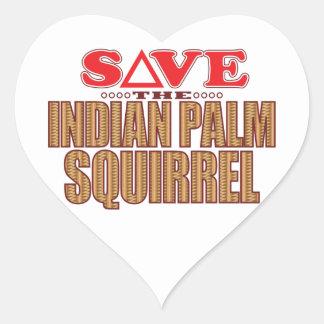 Indian Palm Squirrel Save Heart Sticker
