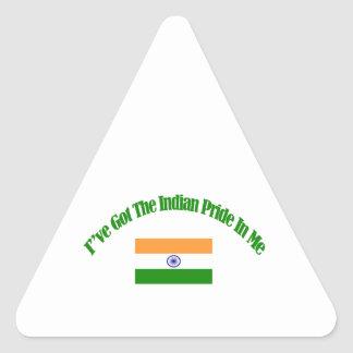 Indian patriotic flag designs triangle sticker