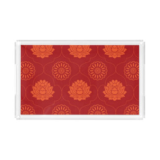 Indian Pattern Rectangle Serving Trays