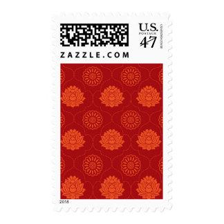 Indian Pattern Postage Stamp