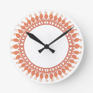 Indian Pattern Round Clock