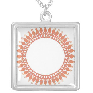 Indian Pattern Silver Plated Necklace