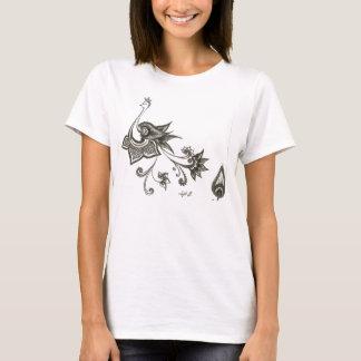 Indian Peacock Design Art Paisley T-Shirt