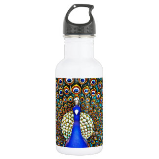 Indian Peacock Stainless Steel Water Bottle