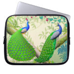 Indian Peacocks in Jungle Electronics Bag Laptop Sleeves
