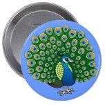 Indian Peafowl Button