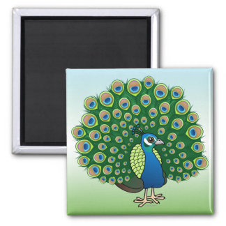 Indian Peafowl Magnet
