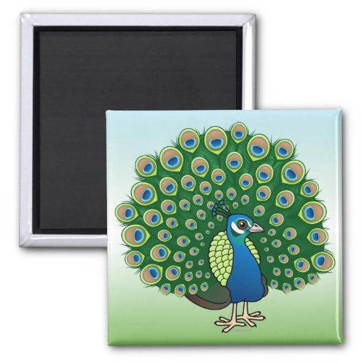 Indian Peafowl Refrigerator Magnet