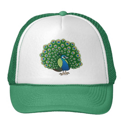 Indian Peafowl Trucker Hat