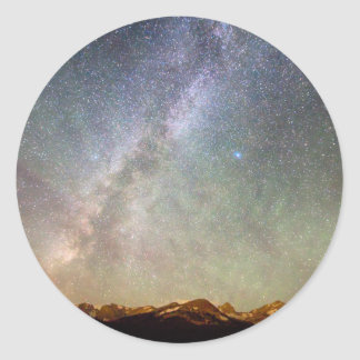 Indian Peaks Milky Way Classic Round Sticker