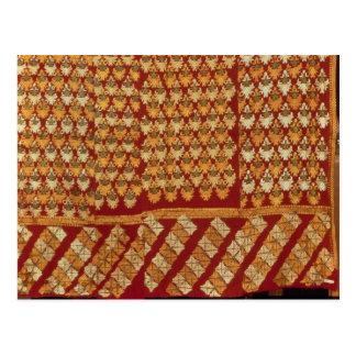Indian Phulkeri embroidery Postcard